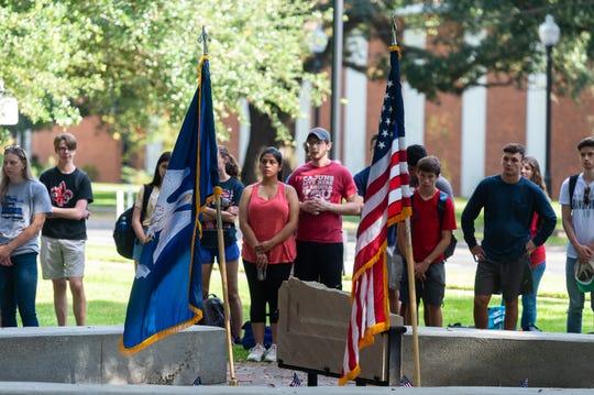 911 Memorial Ceremony at the UL Alumni  Center Garden.  Wednesday, Sept. 11, 2019.