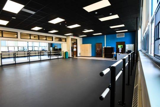 A new dance studio inside Dwight Rich Academy.