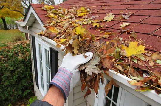 Fall, especially, leads to a lot of leaves and debris in gutters, so check them regularly.