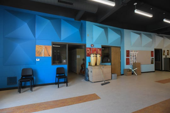 The newly renovated music room at Dwight Rich Academy.