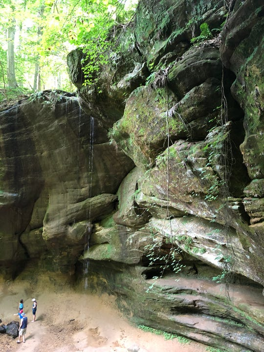 The 80-foot-tall Big Lyons Falls in Mohican State Park.