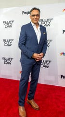 "Jimmy Smits poses for photos on the red carpet before the ""Bluff City Law"" premiere screening on Tuesday, Sept. 10, 2019, at the Halloran Centre in Downtown Memphis."