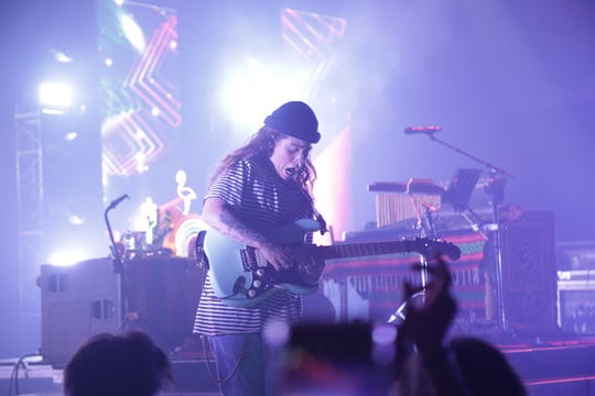 Tash Sultana performs at the Riverside Theater on Sept. 10, 2019.