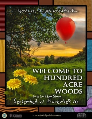 """The fall garden show at the Mitchell Park Domes, """"Welcome to Hundred Acre Woods,"""" will pay homage to the stories of Winnie the Pooh."""