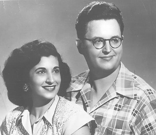 Country songwriters Felice, left, and Boudleaux Bryant, shown in a 1955 photo. Felice was born in Milwaukee; the couple met at Milwaukee's Schroeder Hotel.