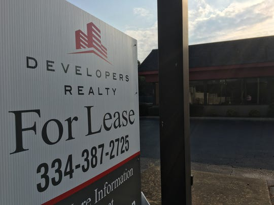 The former Hardee's at 1041 Perry Hill Road is now being advertised for lease.