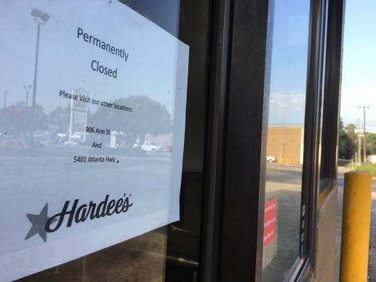 The Hardee's restaurant at 1041 Perry Hill Road is one of three Montgomery locations that recently closed.