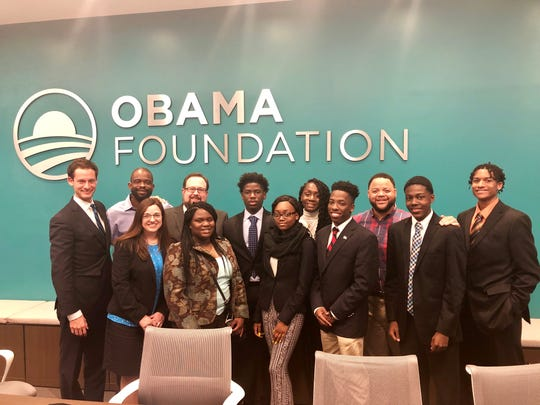 High school students visit the Obama Foundation  in Washington D.C.