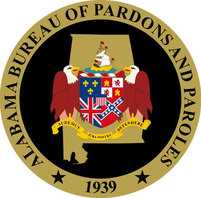 The seal of the Alabama Bureau of Pardons and Paroles.