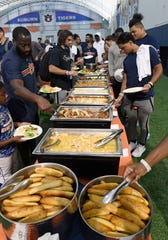 Auburn football team dinner on Sunday, Sept. 8, 2019 in Auburn, Ala.
