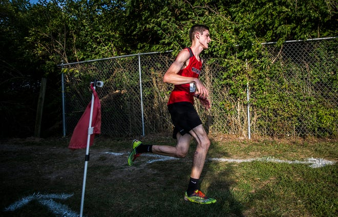 FILE -- Wapahani, competing here at the county cross country meet Sept. 10, 2019, won the boys MEC title.