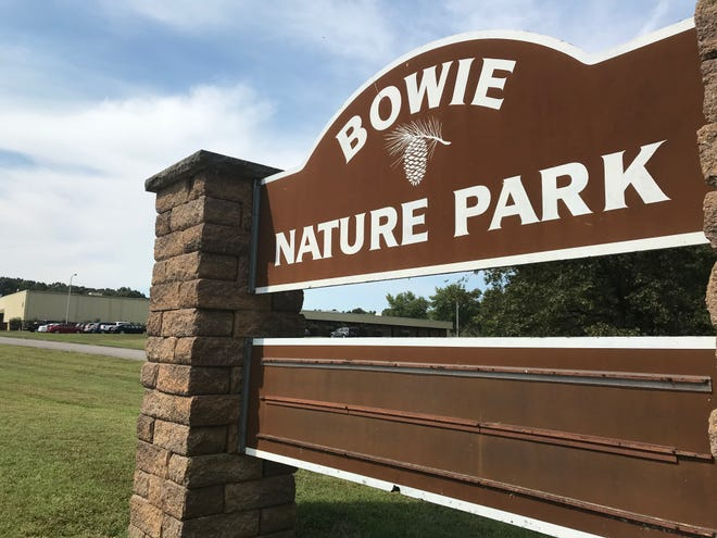 The entrance to Bowie Nature Park in Fairview.
