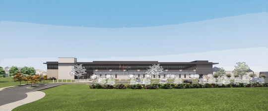 A rendering of the future Brentwood Police Department headquarters on Heritage Way.