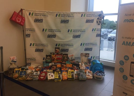 Donations for victims of Hurricane Dorian collected by Pet ResQ and Hackensack University Medical Center.