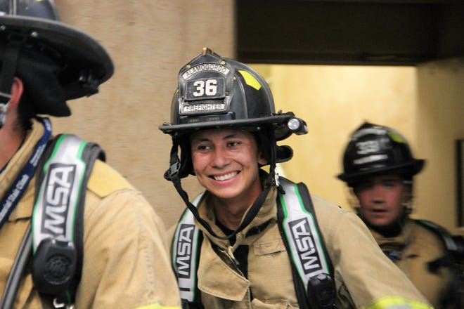The 18th anniversary of the Sept. 11 attacks were commemorated at the New Mexico Museum of Space History with the Climb the Cube Stair Climb in the morning and a parade and memorial that evening.
