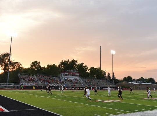 Livonia Churchill hosts Livonia Stevenson on Sept. 10, 2019.