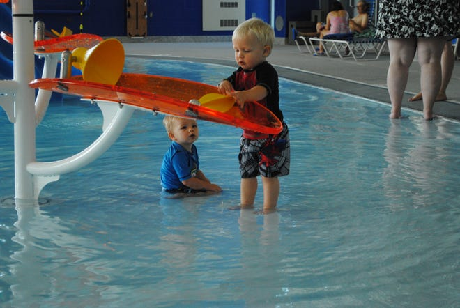 One of the key parts of the pools summer renovation was elements for young kids to enjoy.