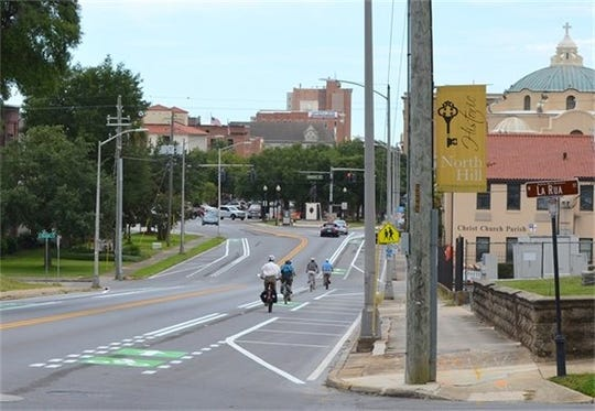 In August, bike lanes were opened through the North Palafox Road Diet Project, which transformed part of North Palafox Street into a multi-modal and shared roadway for vehicles and bicyclists