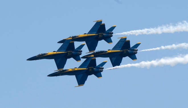 The U.S. Navy Blue Angels will take to the skies for their season ending homecoming performance.
