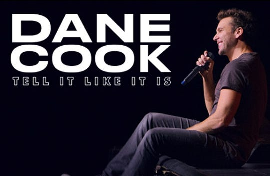 Dane Cook will perform a stand-up comedy routine on Saturday, Sept. 28 at the Saenger Theatre in downtown Pensacola.