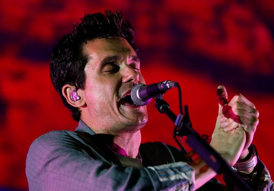 John Mayer performs during his World Tour 2019 stop at Talking Stick Resort Arena in Phoenix on Sept. 10, 2019.