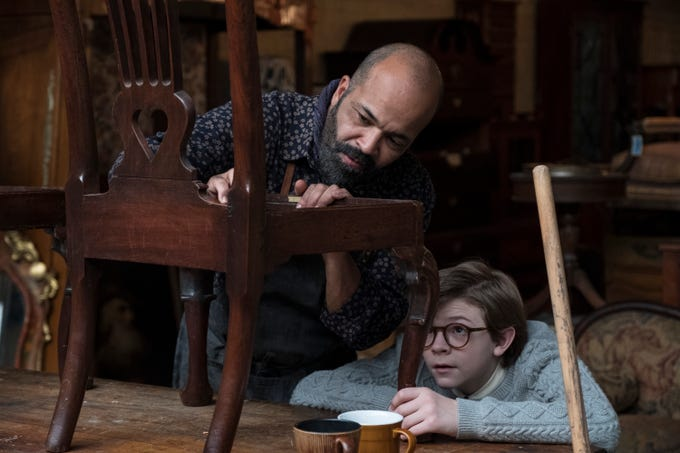"""Jeffrey Wright as Hobie and Oakes Fegley as Young Theo in """"The Goldfinch."""""""