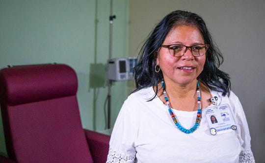 Lynette Bonar, CEO of Tuba City Regional Health Corporation, talks about the need for oncology care on the Navajo Nation, Friday, August 9, 2019.