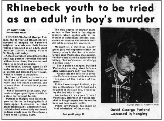 A story by reporter Larry Hertz from the front page of the Poughkeepsie Journal in 1979.