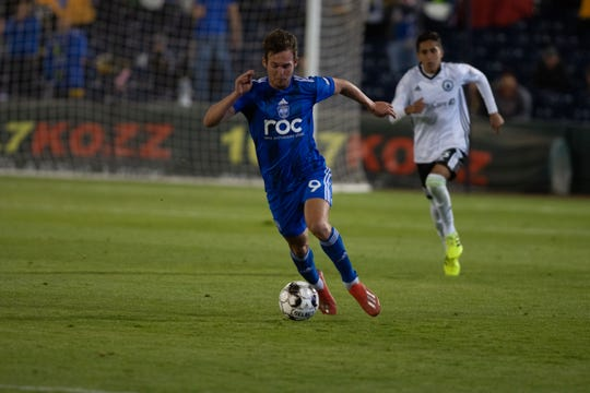Danny Musovski scored four goals for Reno 1868 FC vs. Tacoma Defenders at Greater Nevada Field in Reno on Tuesday.