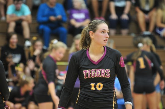 University of Georgia commit Regan Tinkle of Hagerstown during a 3-0 loss to Class 2A number-two ranked Wapahani on Sep. 10, 2019.