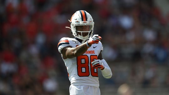 Receiver Trishton Jackson was one of the few bright spots for Syracuse against Maryland. Jackson caught 7 passes for 157 yards and two touchdowns.