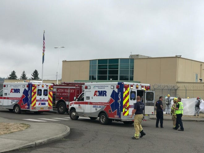 About 20 staff memberswere evacuated Wednesday from Coffee Creek Correctional Facility after a substance was found in the mail room.