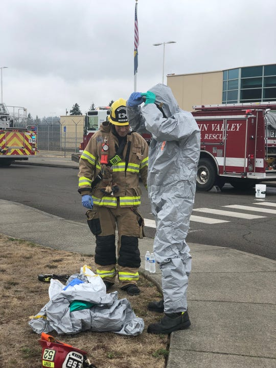 Mailroom staff at the Coffee Creek Correctional Facility in Wilsonville discovered a white, powdery substance in an envelope on Wednesday, Sept. 11, 2019