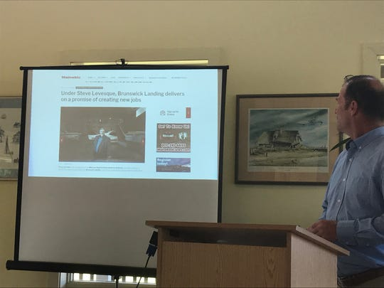 David Lumgair, Vice Chairman of the Accomack County Economic Develoment Authority, speaks in Melfa, Virginia on Tuesday, Sept. 10, 2019.