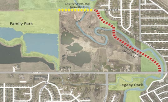 The Cherry Creek Trail Corridor expands from Family Park to Legacy Park.