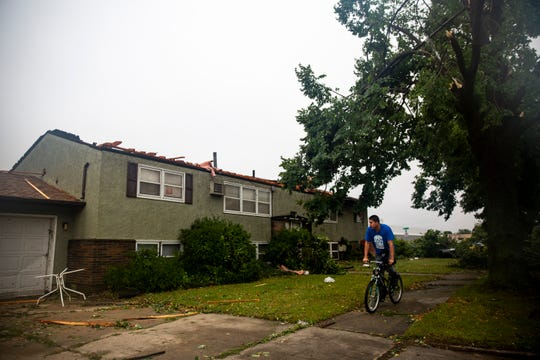 Sioux Falls residents begin the recovery process after a devastating tornado hit on Tuesday, Sept. 10, 2019.