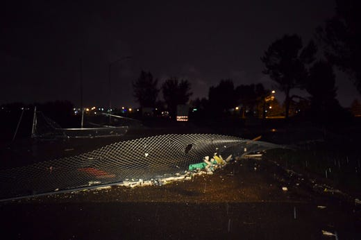 Damage across Sioux Falls from tornado.