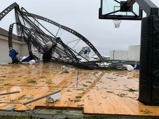 Avera Sports Dome storm damage