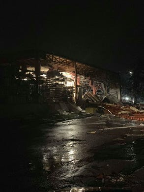 Damage in Sioux Falls from tornado.