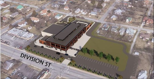 An artist rendering of Boyd Elementary School provides an aerial view of the property.