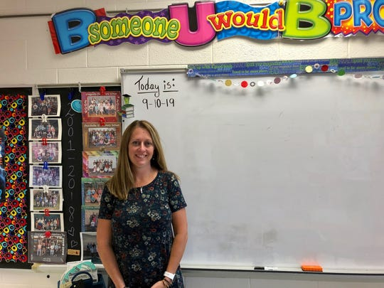 Intervention specialist Sarah King was new to William Perry Elementary School this year and implemented several strategies intended to improve math test scores.