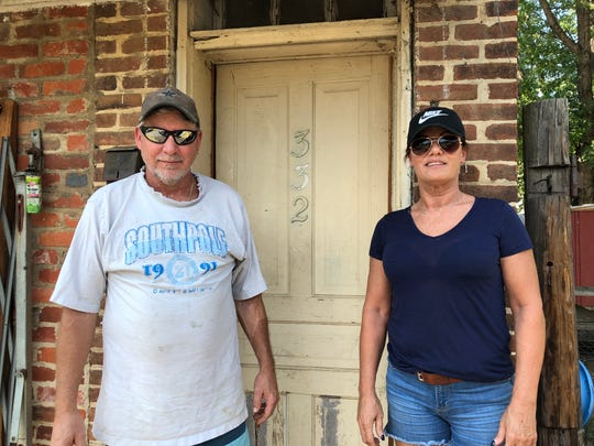 The property where Clay Frazier lives in Waynesboro — a property he has receipts of paying taxes on since 2016. But now, property owners Fishburne-Hudgins Educational Foundation say he can't be there. From left to right: Clay Frazier and Debbie Rogers.