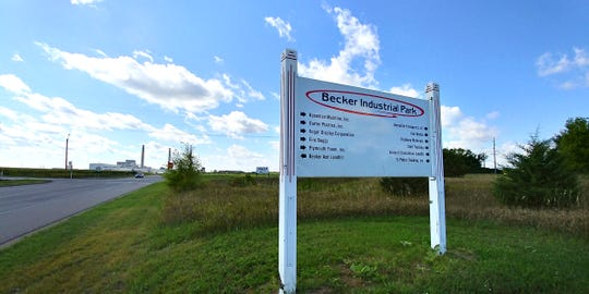 Lawmakers from House bonding committee and Central Minnesota officials gathered by the Sherco Generating Plant on Friday, Sept. 6, 2019, to discuss potential state funding for infrastructure at the Becker Industrial Park.