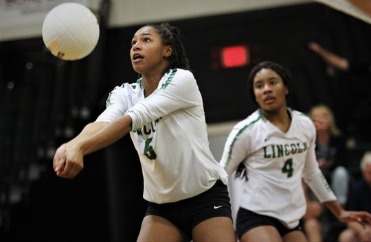 Lincoln junior Yasmin Grace passes as Wakulla swept Lincoln 3-0 on Tuesday, Sept. 10, 2019.