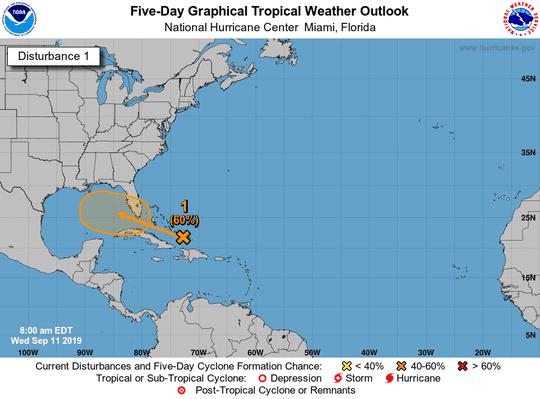 Tropics 8 a.m. Sept. 11, 2019