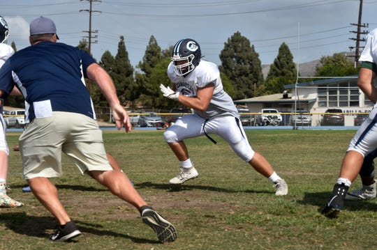 Jackson Bateman, who transferred to Camarillo from the state of Washington with his twin brother, has starred at the guard position for a dominant offensive line.