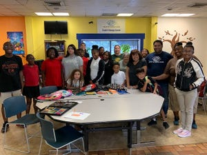 Members of the Woman's Club of Vineland collected school supplies for the target project for September. Linda Gallina, project chairperson, delivered the donations to the Boys and Girls Club of Vineland on Sept. 9.