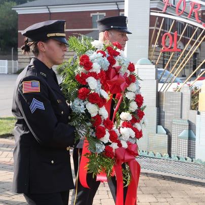 The Mahopac Fire Department held a small memorial and wreath laying ceremony outside fire headquarters on Route 6 on the 18th anniversary of the attacks on our country Sept. 11, 2019.