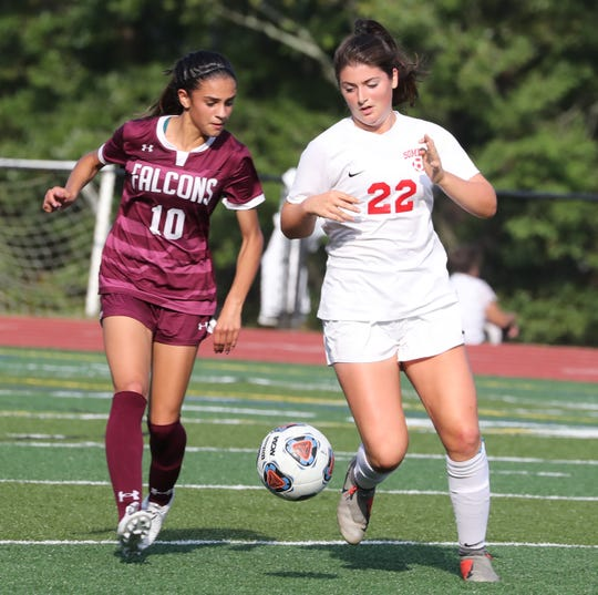Albertus Magnus beat Somers 2-1 in OT at Albertus Sept. 10, 2019.