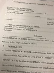 Fredericka Butler, a former interim assistant principal at Albert Leonard, sued the New Rochelle school district. She also sued the Blind Brook school district in 2017.